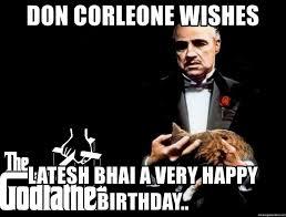 Godfather Meme Generator - happy birthday godfather meme mne vse pohuj
