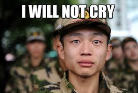 Cry Meme - meme crying soldier i will not cry memes pinterest crying