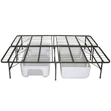durable metal folding full size bed frame and ample storage