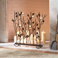 fireplace candle holder interior design