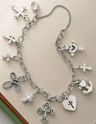bracelet charms cross images 558 best vintage sterling puffy heart charm bracelets images on jpg