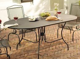 Oval Wrought Iron Patio Table Wrought Iron Garden Furniture Adelaide Ever X Wood