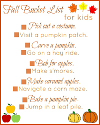 free printable fall bucket list for kids 25 fall activities