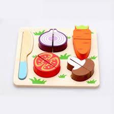 cuisine jouets bricolage en bois coupe de fruits légumes dessert jouer cuisine