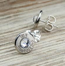 bullet stud earrings stud earrings brass and nickel