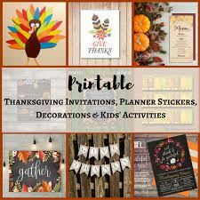 thanksgiving invitations planner stickers decorations