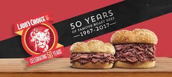 famous roast beef sandwiches lion u0027s choice