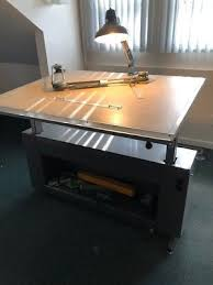 Lighted Drafting Table Lighted Drafting Table Heavy Metal Desk Drawing Board With