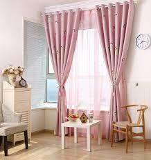 pink children u0027s curtains modern style cartoon printed jacquard