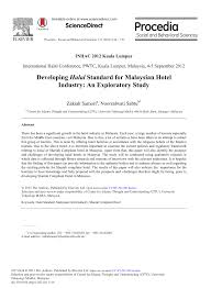 developing halal standard for malaysian hotel industry an
