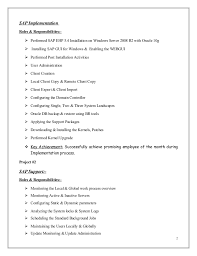 Sap Consultant Resume Sample by Download Sap Basis Administration Sample Resume
