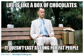 Life Is Like A Box Of Chocolates Meme - life is like a box of chocolates it doesn t last as long for fat