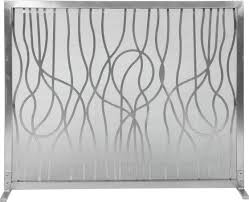 dagan stainless steel modern abstract fireplace screen barbeques