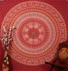 Wall Tapestry Hippie Bedroom Amazon Com Cotton Bohemian Tapestry Mandala Dorm Room Hippie Full