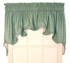 Green Valance Tailored Swag Curtains Window Toppers