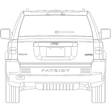 jeep front drawing cad and bim object car b57 polantis