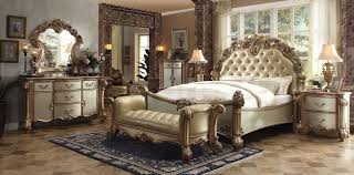 bedroom sets vendome traditional 5 pc bedroom set gold af