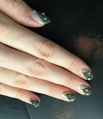 christmas month 2014 tutorial 3d christmas trees nails for