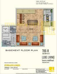 mahavira design buildcon builder floors in gurgaon basement floor