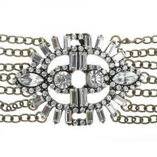 sweet lola bracelet art deco design with antique bronze u0026 clear