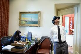 a new prize challenge for virtual and augmented reality learning president barack obama uses a virtual reality headset in the outer oval office aug
