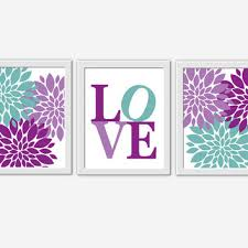 Purple Nursery Wall Decor Baby Nursery Wall Purple From Dezignerheartdesigns On