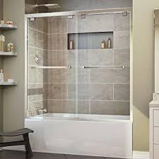 dreamline visions 56 60 in width frameless sliding tub door 1 4