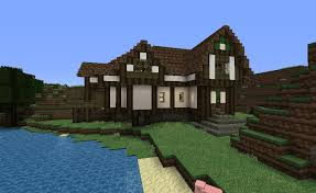 big farm house big farm house with a mine and stable minecraft project