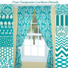 Curtains With Turquoise Turquoise Kitchen Curtains Picture Fashionable Turquoise