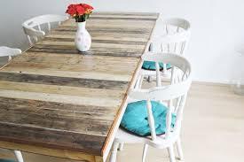 fabriquer une table haute de cuisine table en palette 44 idées à découvrir photos