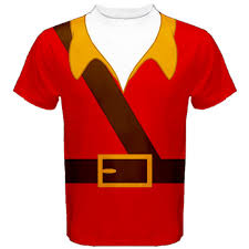 Gaston Halloween Costume Sublimation Printed Shirt Inspired Gaston Disney Film
