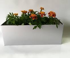 Metal Planter Box by Medium Window Box Style Handmade Metal Planter Silver Coated