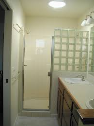 Shower Curtains For Glass Showers Glass Block Shower Partial Wall Could Substitute Shower Curtain
