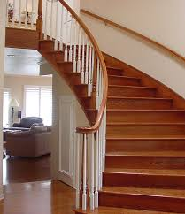 architecture wooden handrails for stairs with wood treads ideas