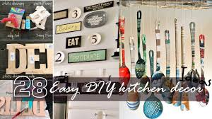 Decor Ideas For Kitchens Easy Diy Kitchen Decor Youtube