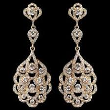 gold bridal earrings chandelier 146 vintage wedding jewelry 2017 trends and ideas wedding