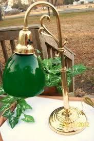 Traditional Bankers Desk Lamp Green Glass Desk Lamp Foter