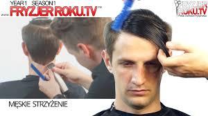 klasyczna męska fryzura z przedziałkiem classic men u0027s haircut