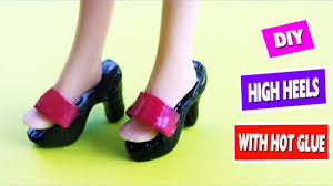 how to make barbie shoes diy tutorial youtube