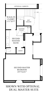 dual master bedroom floor plans at serrano the brescia home design