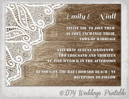 digital wedding invitations rustic wedding invitation template wood lace