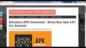 apk for showbox showbox apk for android