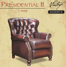 barcalounger presidential ii leather recliner chair leather