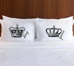 wedding gift design pillowcase set gift for couples king royal