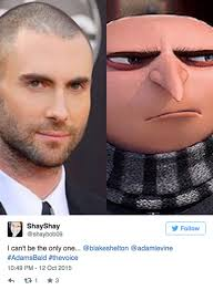 Shaved Head Meme - adam levine shaved head memes hollywood life