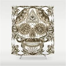 Skull Shower Curtain Hooks Snidely Whiplash Meets Sugar Skull Shower Curtain U2013 Sugar Skull