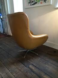 arne jacobsen style egg chair original vinyl cover original 60s 70s