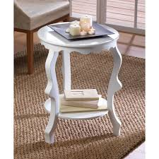White Accent Table Round Accent Table In Your Room Home Furniture And Decor