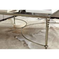 Silver Sofa Table Freyja Industrial Silver Antique Mirror Square Coffee Table