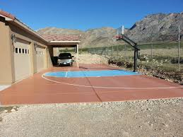 it is nice to have an outdoor basketball court in the desert